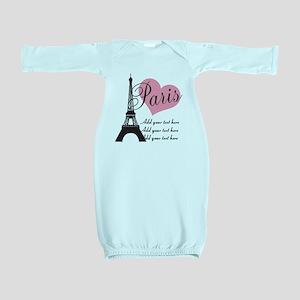custom add text paris Baby Gown