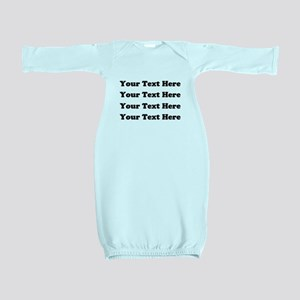 Custom add text Baby Gown