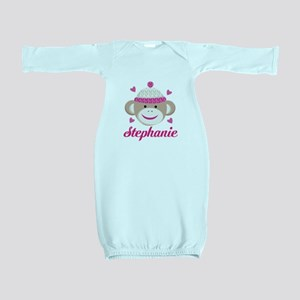 Personalized Sock Monkey Baby Gown