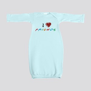 I Love Friends Baby Gown