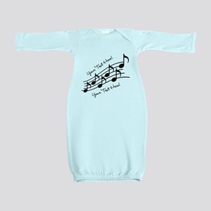 Music Notes PERSONALIZED Baby Gown