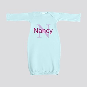 CUSTOM Initial and Name Pink Baby Gown