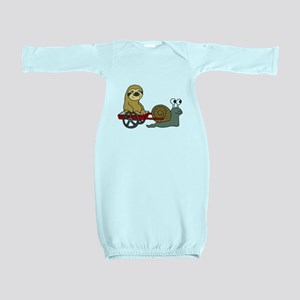 Snail Pulling Wagon with Sloth Baby Gown
