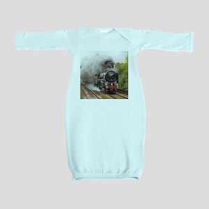 locomotive train engine 2 Baby Gown