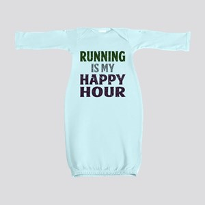 Running Is My Happy Hour Baby Gown