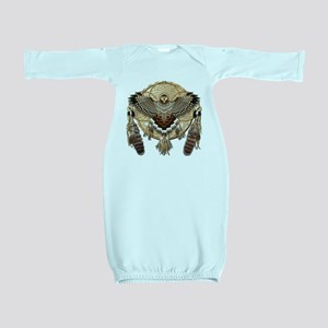 Red-Tailed Hawk Dreamcatcher Mandala Baby Gown