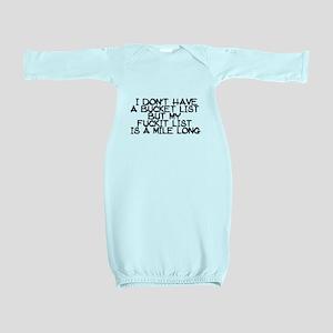 BUCKET LIST HUMOR Baby Gown