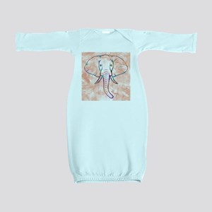 Elephant Watercolor Baby Gown
