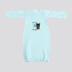 Cat with washing machine Baby Gown