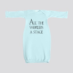 All the Worlds a Stage Baby Gown