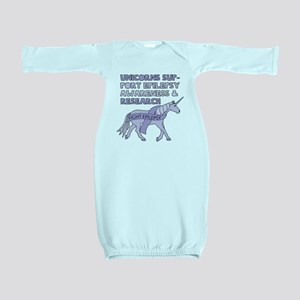 Unicorns Support Epilepsy Awareness Baby Gown
