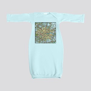 Map of London England Baby Gown