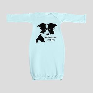 Border Collie Art Baby Gown