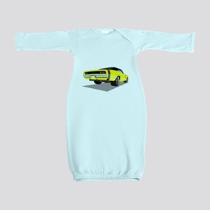1968 Charger in Yellow with Black Top Baby Gown