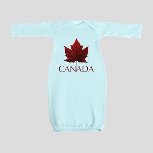 Canada Flag Maple Leaf Baby Gown