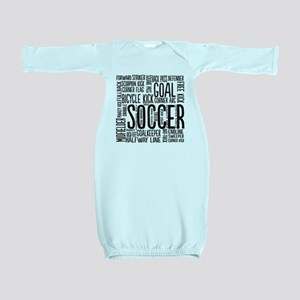 Soccer Word Cloud Baby Gown