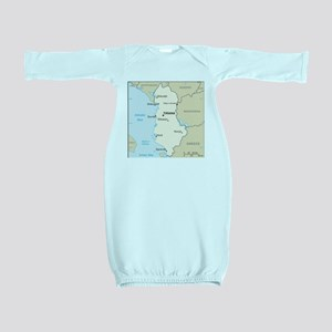 Albanian Map Baby Gown