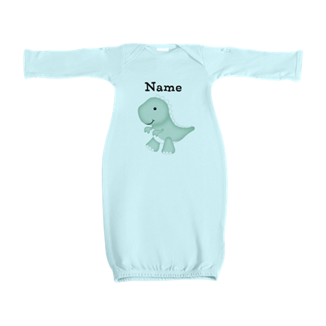 Personalizable T Rex Baby Gown