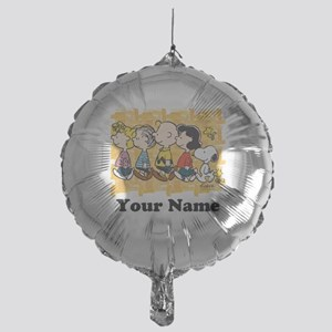 Peanuts Walking Personalized Mylar Balloon