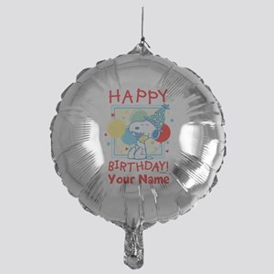 Peanuts Happy Birthday Red Personali Mylar Balloon