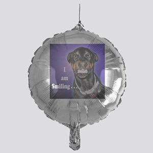 Doberman Pinscher Smiles Mylar Balloon