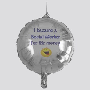 Laughing Social Worker Mylar Balloon