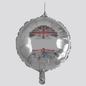 British Grown With Serbian Roots Mylar Balloon