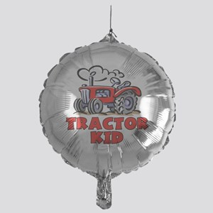 Red Tractor Kid Mylar Balloon