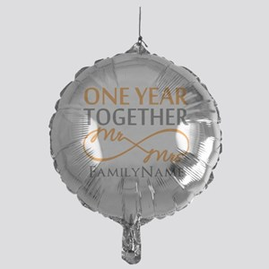 Gift For 1st Wedding Anniversary Mylar Balloon