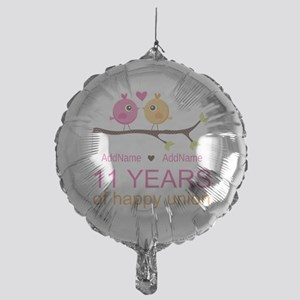 11th Anniversary Personalized Mylar Balloon