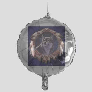 Native American Wolf Dream Catcher Balloon