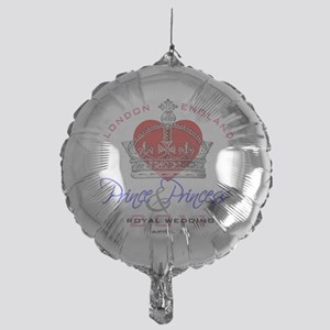 Heart  Crown P and P 1 Mylar Balloon