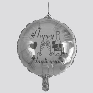 Anniversary black and white 1 copy Mylar Balloon