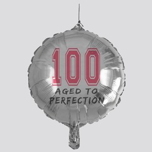 100 Year birthday designs Mylar Balloon