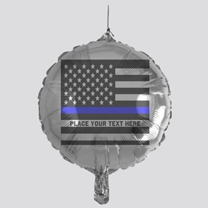 Thin Blue Line Flag Mylar Balloon