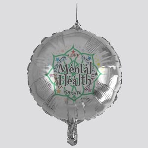 Mental-Health-Lotus Mylar Balloon
