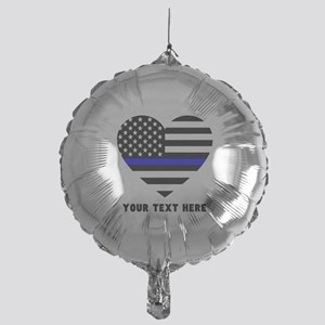 Thin Blue Line Love Mylar Balloon