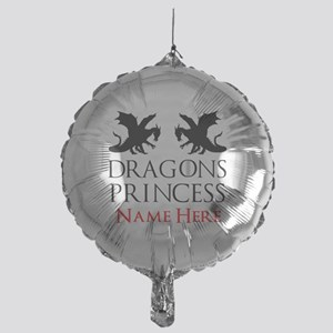 Dragons Princess Personalized Mylar Balloon