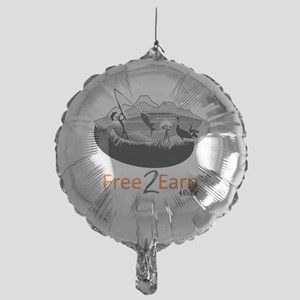 Fishing and Free 2 Earn 4Ever Mylar Balloon