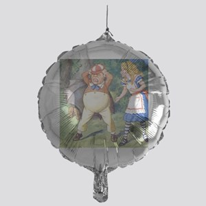 Alice and Tweedle Dum Mylar Balloon