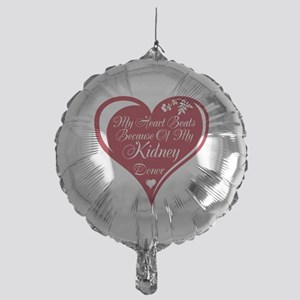 Personalize me Red Transplant Heart Mylar Balloon