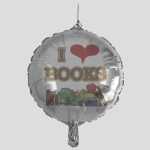 I Love Books Mylar Balloon