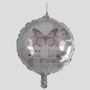 1st Wedding Aniversary (Butterfly) Mylar Balloon