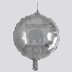 Elephant Happy Mylar Balloon