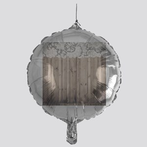 shabby chic lace barn wood Mylar Balloon
