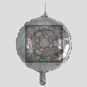 vibrant colorful flowers bohemian Mylar Balloon