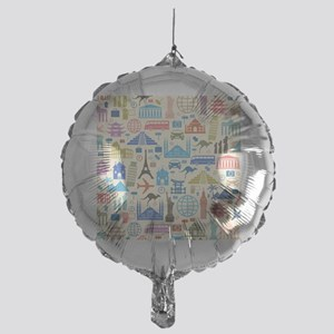 world Travel Mylar Balloon