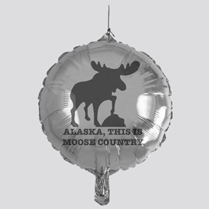Alaska Moose country Mylar Balloon