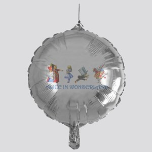 Alice and Her Friends in Wonderland Mylar Balloon