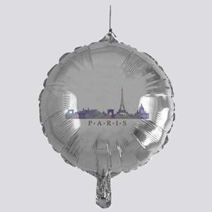 Mosaic Skyline of Paris France Mylar Balloon